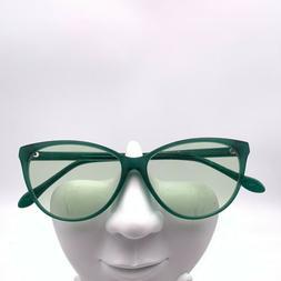 Zenni 102724 Green Oval Cat-Eye Sunglasses FRAMES ONLY