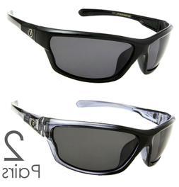 2 PAIR COMBO Nitrogen Polarized Sunglasses Golf Running Fish