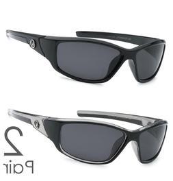 2 Pair Combo Polarized Nitrogen Sunglasses Sport Fishing Gol