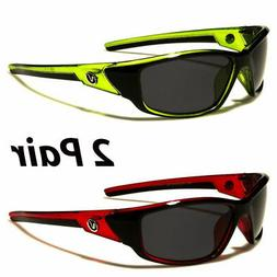 2 Pair POLARIZED Nitrogen Mens Anti Glare Fishing Driving Sp