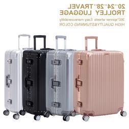 3/4pcs Luggage Travel Set With Lock 4 Wheels Bag Trolley Cas