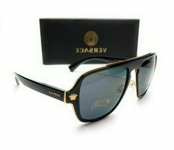 Versace 2199 1002/81 Black Gray Polarized  Sunglasses