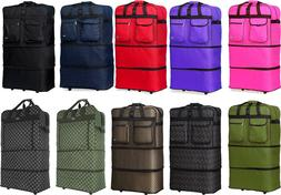 """30"""" / 36"""" / 40"""" Expandable Rolling Duffle Bag Wheeled Spinne"""