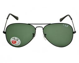 Ray-Ban Aviator Sunglasses Polarized RB3025 002/58 58mm Blac