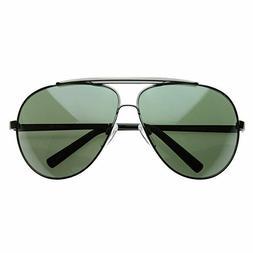zeroUV - 70's Big Frame Oversized Aviator Sunglasses for Men