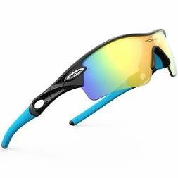 c879a2e558 RIVBOS 805 POLARIZED Sports Sunglasses Glasses with 5 Set In