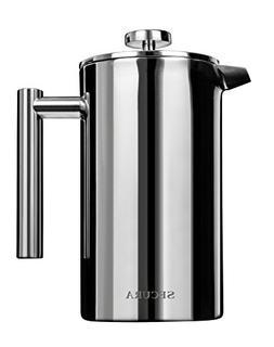 Secura Stainless Steel French Press Coffee Maker 18/10 Bonus