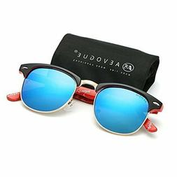 AEVOGUE Polarized Sunglasses Semi-Rimless Frame Brand Design