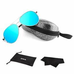 AKG Aviator Mirror UV400 Polarized Sunglasses for Men Women