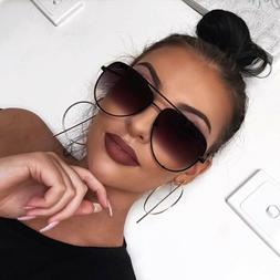 Aviator OVERSIZED Women Sunglasses Aviator Flat Top Square S
