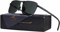 LUENX Aviator Polarized Mens Sunglasses Womens UV 400 Protec