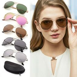 Aviator Polarized Sunglasses For Women Men Lady Metal Frame