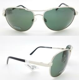 Suncloud Aviator Polarized Sunglasses, Silver Frame, Gray Po