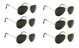 Aviator Sunglasses Aviators Style Sun Glasses Black Lens Gol