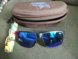 Maui Jim B432-2M Red Sands matte black frame blue hawaii pol