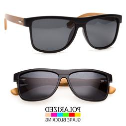 Bamboo Sunglasses Wooden Wood Men Retro Vintage Polarized Gl