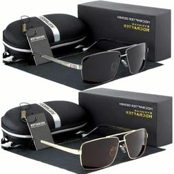 black polarized aviator men glasses outdoor sports