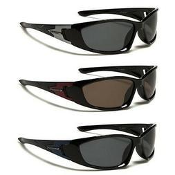 Nitrogen Black Polarized Men Women Wrap Around Sunglasses Fi