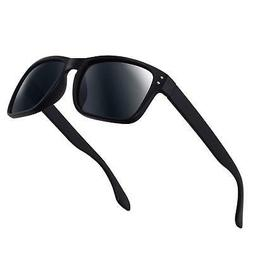 Black Polarized Sunglasses for Men Women Driving Fishing Uni