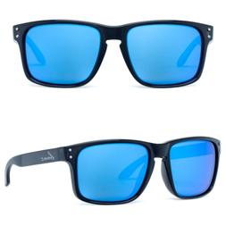 Bnus commander XL polarized sunglasses for men blue flash co