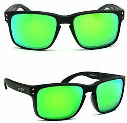 BNUS Sunglasses polarized Shades for men women green mirrore