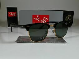 Brand New Ray ban Clubmaster Sunglasses RB3016 51mm Black/Gr