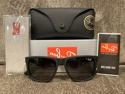 BRAND NEW Ray-Ban RB4165 Justin 622/T3 Polarized Black/Gray