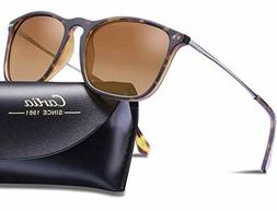 Carfia Classic Designer Polarized Sunglasses for Men, 100% U