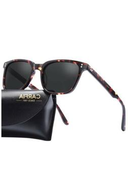 CARFIA Classic Square Polarized Mens Sunglasses UV400 Protec
