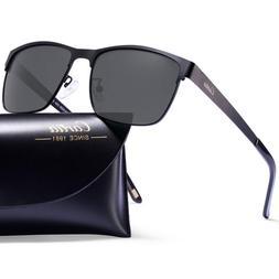 Carfia Metal Polarized Sunglasses for Men Driving Fishing Tr