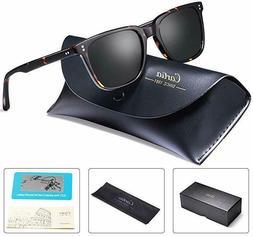 Carfia Chic Retro Polarized Sunglasses for Men, 100% UV Prot