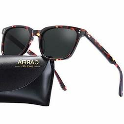 Carfia Chic Retro Polarized Sunglasses for Women Men 100% UV