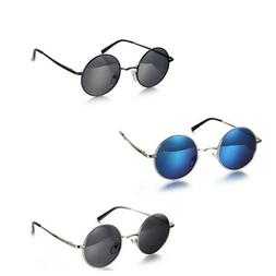 Classic Round Metal Frame Polarized Sunglasses Womens Mens G
