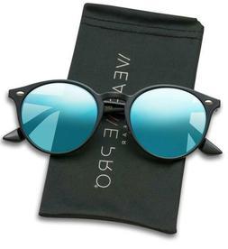 WearMe Pro Classic Small Round Retro Sunglasses Tortoise Fra