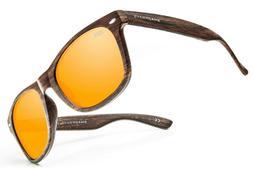Shady Rays Classic Timber Polarized Sunglasses Golden Brand