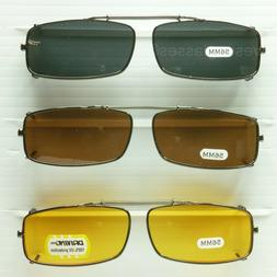 Clip on spring sunglasses men women fish drive metal frame b