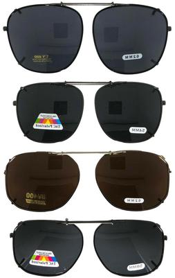 Clip On Sunglasses - Large Frame Glasses- Rectangle - Lens O