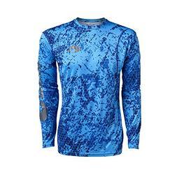 Costa Hexo Technical L/S Performance Shirt, Camo Blue, 2X