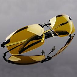 Day and Night Vision Driving Glasses Mens Polarized Sunglass