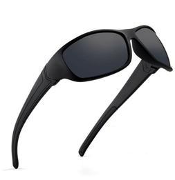 DEAFRAIN Polarized Sports Sunglasses for Men Women Driving F