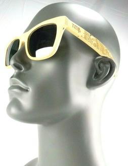 4EST Shades Etched Cherry Wood Sunglasses, Polarized UVA/ UV