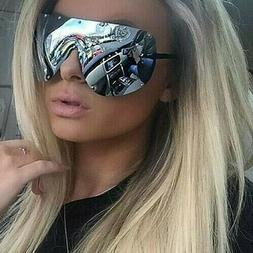 """FULL MASK"" Shield MIrror POLARIZED Lens Women Sunglasses GA"