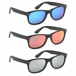 GAMMA RAY Polarized UV400 Classic Style Sunglasses with Mirr