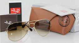 Geunine Ray Ban Aviator RB3025 001/51 all size Gold Frame Br