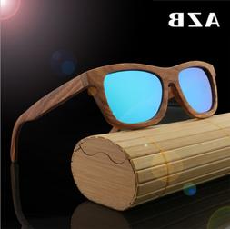 Handmade Unisex Zebra Wood Polarized Sunglasses Wooden Frame