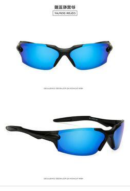 HD Polarized Sunglasses Men's Rimless Driving Blue Glasses U