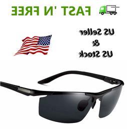 HD Unisex Polarized Sunglasses Outdoor Sports Aviator Eyewea