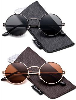 John Lennon Polarized Sunglasses Round Vintage Hippie Retro