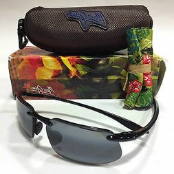Maui Jim Unisex-Adult 62 mm Black Frame Grey Lens Sport Sung
