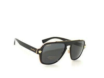 Versace 2199 1002/81 Black Gray Polarized  Sunglasses